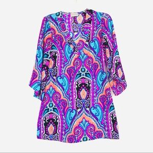 Alice and Trixie Silk Paisley Dress